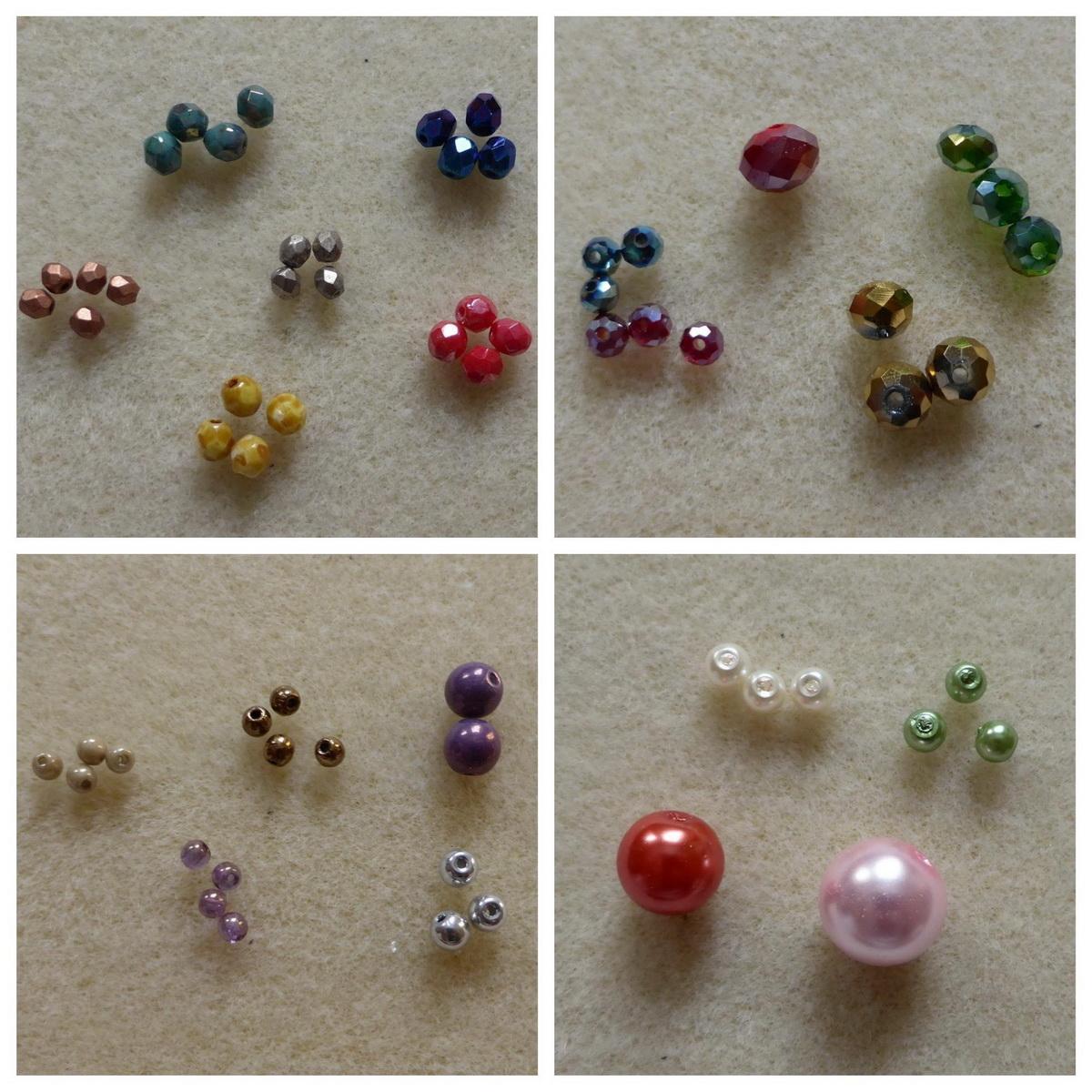 Razne vrste okruglih perli