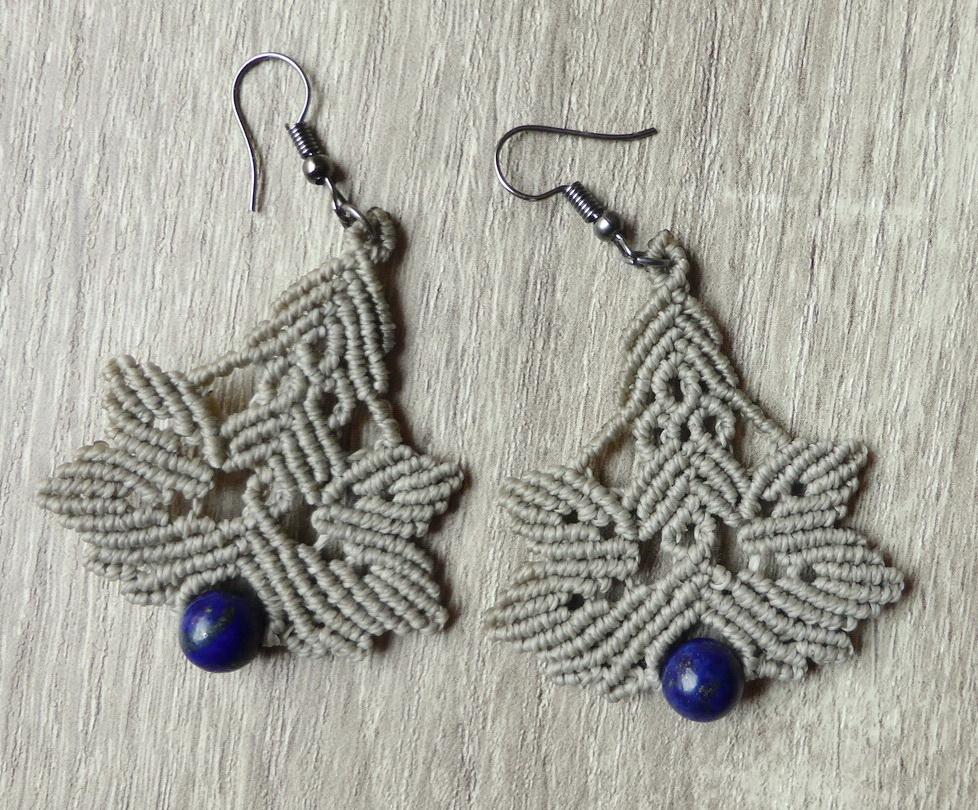 Minđuše lapis lazuli
